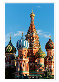 Premium poster Closeup of the Cathedral of St. Basil's Cathedral, Moscow