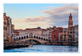 Premium poster Rialto Bridge on the Grand Canal in Venice