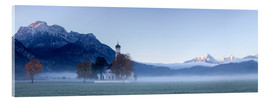 Acrylic print  Panorama of the St. Coloman church, Bavaria - Roberto Moiola