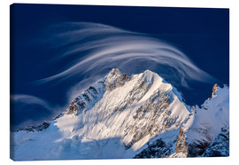 Canvas print  Gentle cloud over Piz Bernina, Switzerland - Roberto Moiola