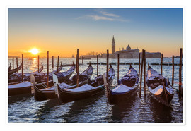 Premium poster Venetian winter sunrise