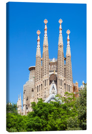 Canvas  La Sagrada Familia church in Barcelona - Neale Clarke