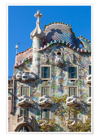 Premium poster Facade of the Casa Batllo, Barcelona