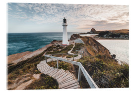 Acrylic print  Lighthouse of Wellington, New Zealand - Nicky Price