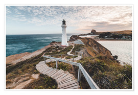 Premium poster  Lighthouse of Wellington, New Zealand - Nicky Price