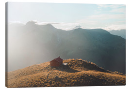 Canvas print  Hut in the New Zealand Alps - Nicky Price