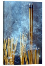 Canvas print  Incense sticks in the temple