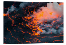 Acrylic print  The lava lake of Mount Nyiragongo, Congo - Michael Runkel