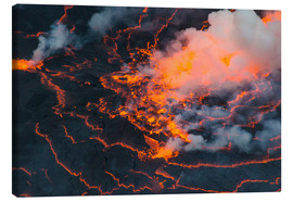 Canvas print  The lava lake of Mount Nyiragongo, Congo - Michael Runkel