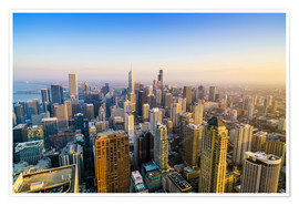 Poster  Skyline of Chicago, Illinois - Fraser Hall