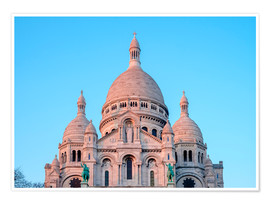 Premium poster Sacre Coeur at sunset, Paris
