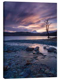 Canvas print  Sunset at the foot of the Scottish Highlands - John Potter