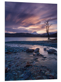Foam board print  Sunset at the foot of the Scottish Highlands - John Potter