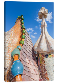 Canvas print  Dragon roof of Casa Batlló, Barcelona - Neale Clarke