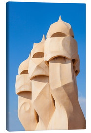 Canvas print  Chimney sculptures at Casa Mila, Barcelona - Neale Clarke