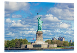 Acrylic print  The Statue of Liberty on a cloudy day - Neale Clarke