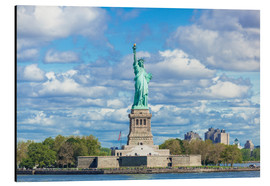 Aluminium print  The Statue of Liberty on a cloudy day - Neale Clarke