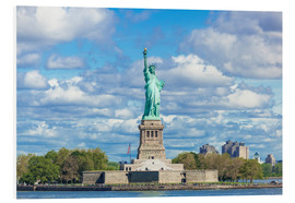 Foam board print  The Statue of Liberty on a cloudy day - Neale Clarke