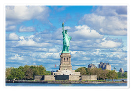 Premium poster  The Statue of Liberty on a cloudy day - Neale Clarke