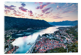 Acrylic print  View over the old town of Kotor on the Adriatic - Matt Parry