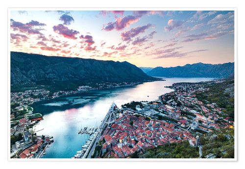 Premium poster View over the old town of Kotor on the Adriatic