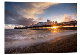 Acrylic print  Brighton pier at sunset with dramatic sky - Lee Frost