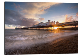 Aluminium print  Brighton pier at sunset with dramatic sky - Lee Frost