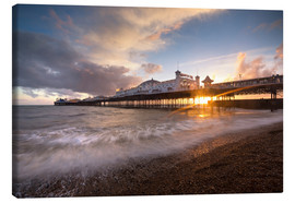 Canvas print  Brighton pier at sunset with dramatic sky - Lee Frost