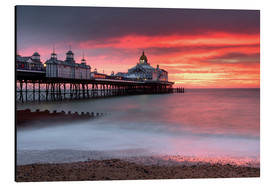 Aluminium print  Eastbourne Pier and fiery red sky - Lee Frost