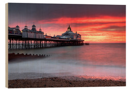Wood  Eastbourne Pier and fiery red sky - Lee Frost