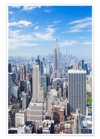 Premium poster  Manhattan skyline in New York - Neale Clarke