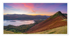 Premium poster Cat bells fell at sunrise