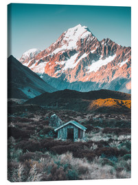 Canvas print  Hut at Mount Cook, New Zealand - Nicky Price