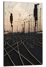 Aluminium print  Tracks at main station, Frankfurt - Markus Lange