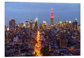 Foam board print  Empire State Building and city skyline - Fraser Hall