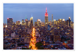 Premium poster Empire State Building and city skyline