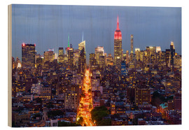 Wood print  Empire State Building and city skyline - Fraser Hall