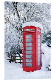 Acrylic print  Traditional British telephone box in the snow - Stuart Black