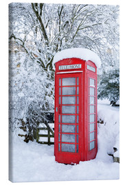 Canvas print  Traditional British telephone box in the snow - Stuart Black