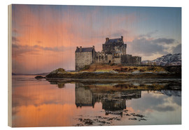 Wood print  Dawn at Eilean Donan Castle - Andrew Sproule