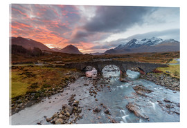 Acrylic print  Sgurr nan Gillean in the Cuillin mountains - Andrew Sproule