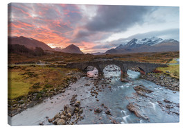 Canvas print  Sgurr nan Gillean in the Cuillin mountains - Andrew Sproule