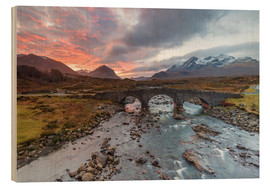 Wood print  Sgurr nan Gillean in the Cuillin mountains - Andrew Sproule