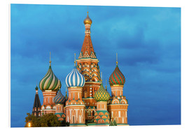 Foam board print  Brilliant St. Basil's Cathedral in Moscow - Miles Ertman