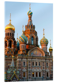 Acrylic print  The Resurrection Church in St. Petersburg - Miles Ertman