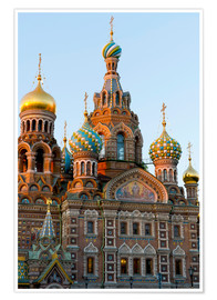 Premium poster  The Resurrection Church in St. Petersburg - Miles Ertman