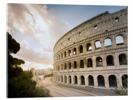 Acrylic print  The lights of the sunrise frame the ancient Coliseum - Roberto Moiola
