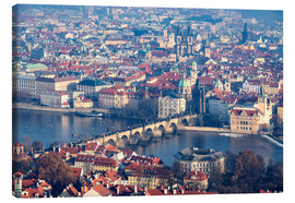 Canvas print  View of the old town of Prague on the Vltava - Roberto Moiola
