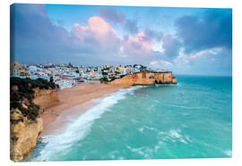 Canvas print  View of Carvoeiro village surrounded by sandy beach - Roberto Moiola