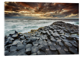 Acrylic print  An evening view of the Giant's Causeway - Nigel Hicks